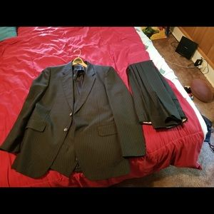 Other - A three piece tailored suit (pinstripes)